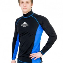 Футболка лайкровая Scorpena Swim длинный рукав man black