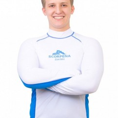 Футболка лайкровая Scorpena Swim длинный рукав man white