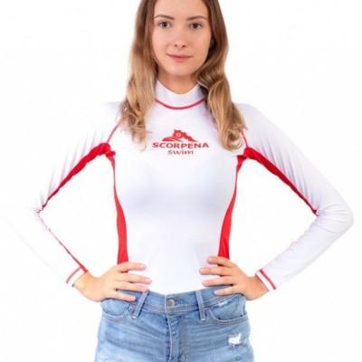 Футболка лайкровая Scorpena Swim длинный рукав woman white
