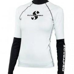 Реглан Scubapro Rash Guard Women SHELL бело-черный
