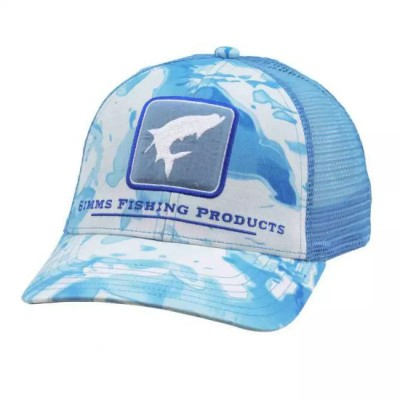 Кепка Simms Tarpon Icon Trucker Cloud Camo Blue