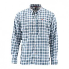 Рубашка Simms BugStopper Shirt Plaid Faded Denim Plaid