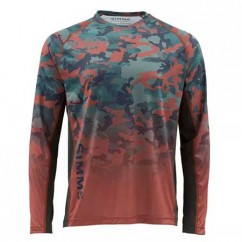 Блуза Simms Challenger Solar Tech Jersey Hex Flo Camo Rusty Red
