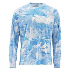 Блуза летняя Simms SolarFlex Crewneck Prints Cloud