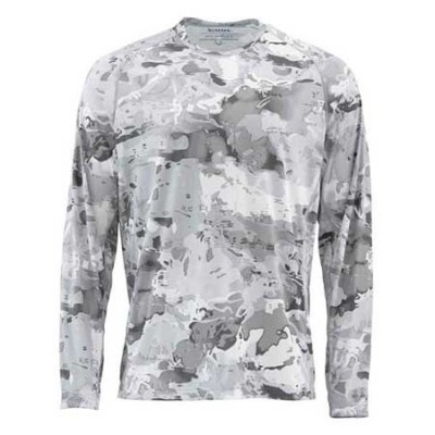 Блуза Simms SolarFlex Crewneck Prints Cloud Camo Grey