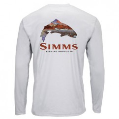 Блуза Simms Solar Tech Tee Simms Troutscape Sterling