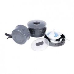 Набор посуды из анодированого алюминия на 2-3 персоны (профилированное дно) Tramp TRC-034