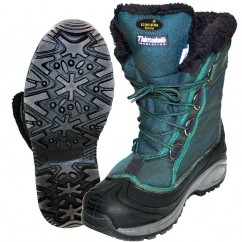 Ботинки  зимние Norfin SNOW (комбинирован., искусств. мех, зеленый.) -20 °