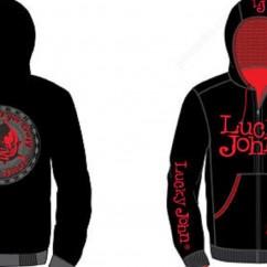 Куртка флисовая с капюшоном LUCKY JOHN (чёрная)