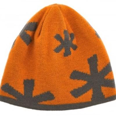Шапка вязанная подростковая 2-сторонняя Norfin JUNIOR ARCTIC (оранж / серая)