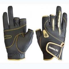 Перчатка спиннингиста Fishing ROI 301-WK-04 black-gold (c 2 пальц.)