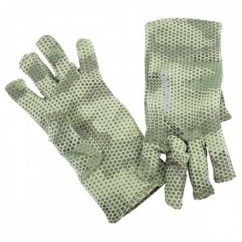 Перчатки Simms Ultra-Wool Core 3-Finger Liner Hex Camo Loden