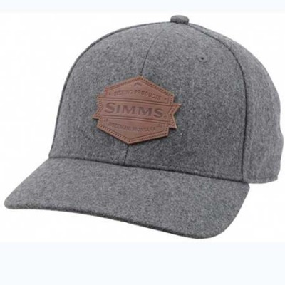 Кепка Simms Wool Leather Patch Cap Heather Grey